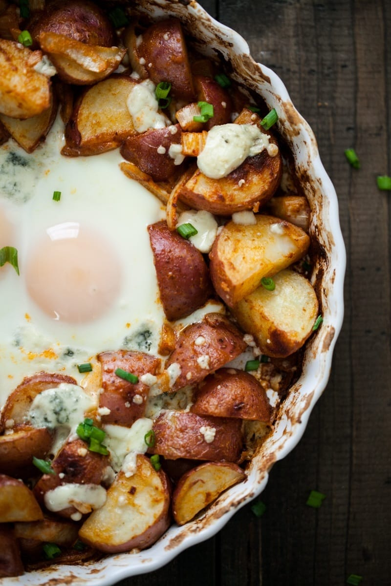 Easy Smoked Paprika Red Potatoes and Egg Bake | @naturallyella