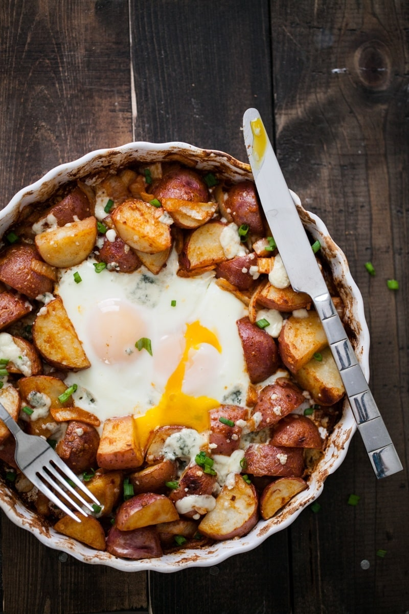 Smoked Paprika Potato Egg Bake | @naturallyella