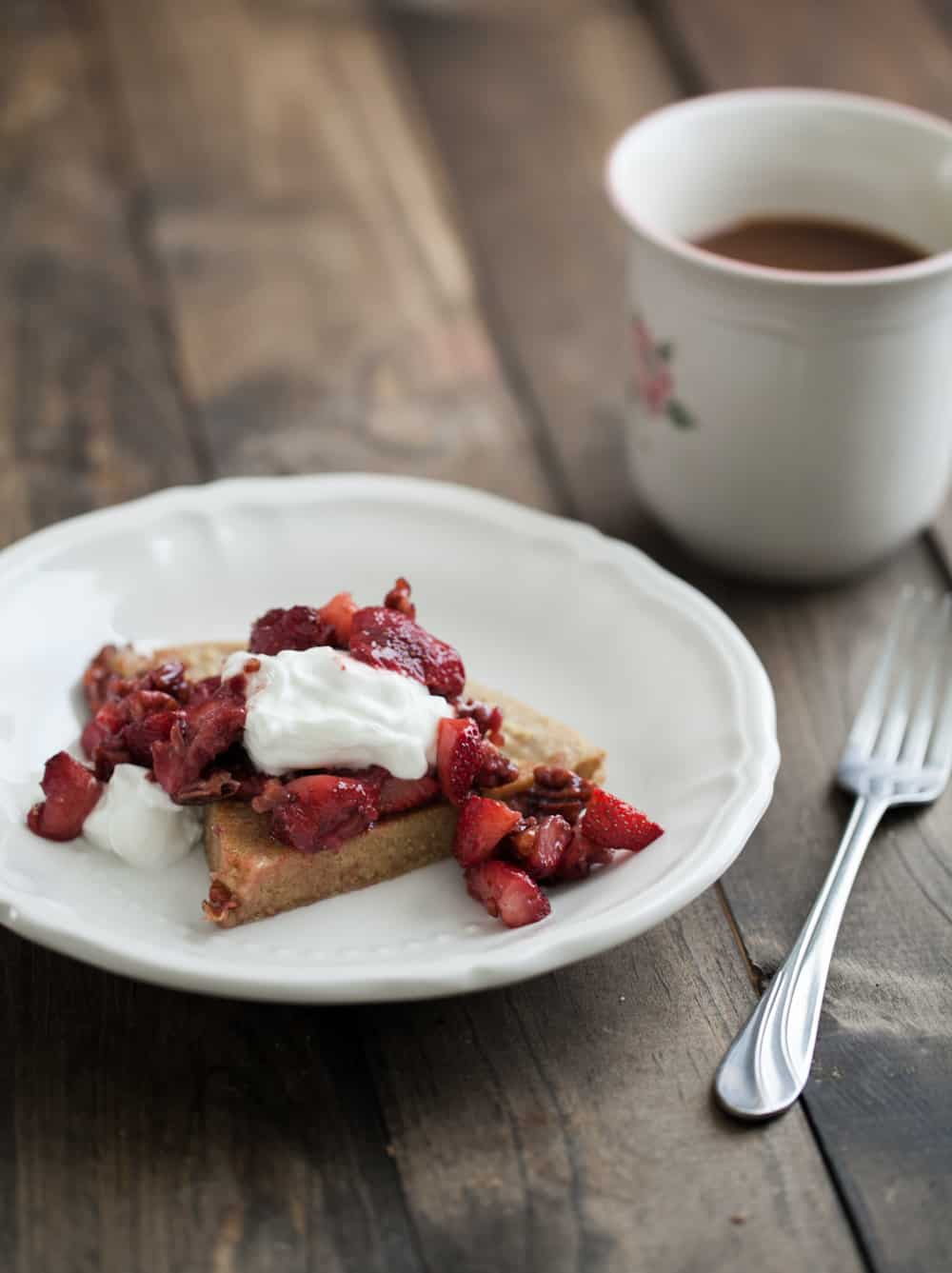 Whole Wheat Dutch Baby with Maple-Pecan Strawberries