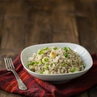 Creamy Gorgonzola Rice and Roasted Cauliflower