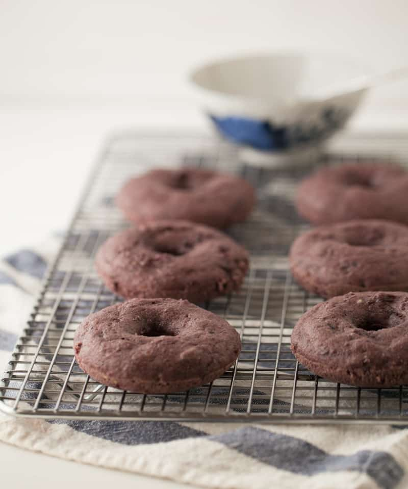 Blackberry Doughnuts with Vanilla Bean Glaze | @naturallyella