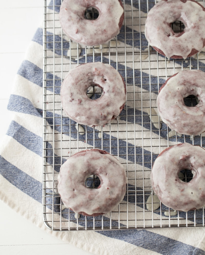 Blackberry Doughnuts and Vanilla Bean Glaze | @naturallyella