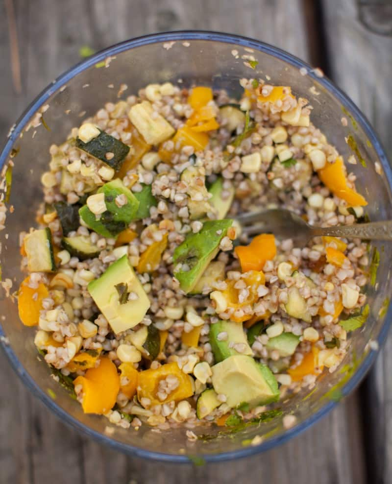 Summer Buckwheat Salad with Sweet Corn and Zucchini