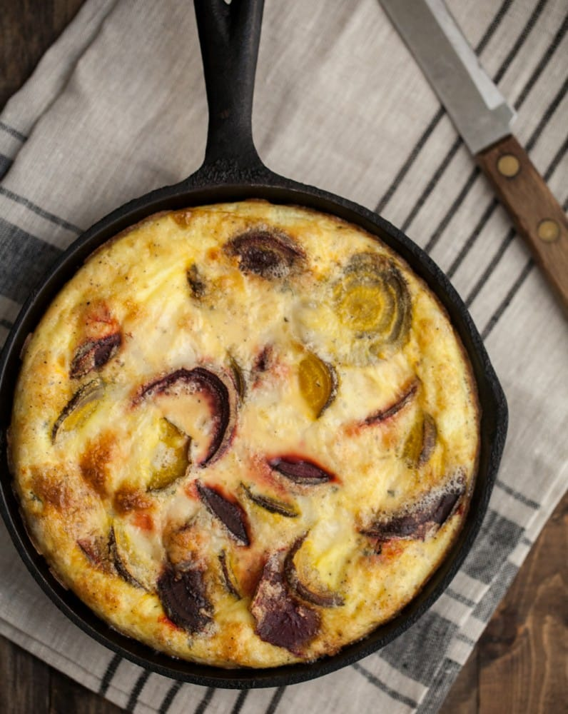 Roasted Beet Frittata