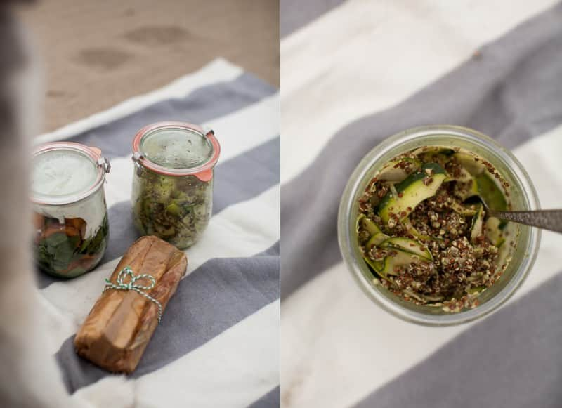 Zucchini Ribbon, Quinoa, and Pesto Salad