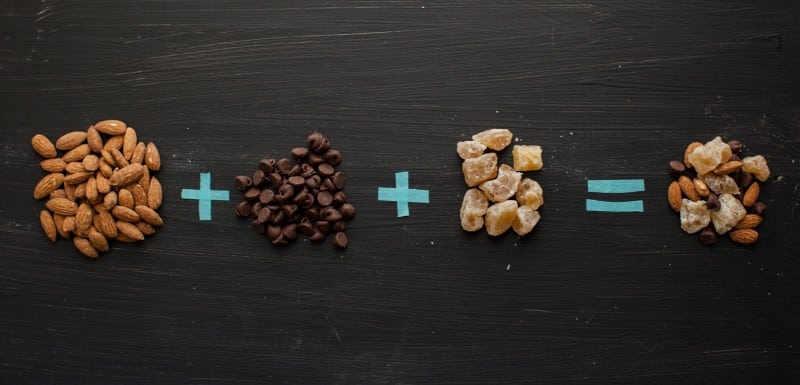 Roasted Almonds + Chocolate Chips + Candied Ginger