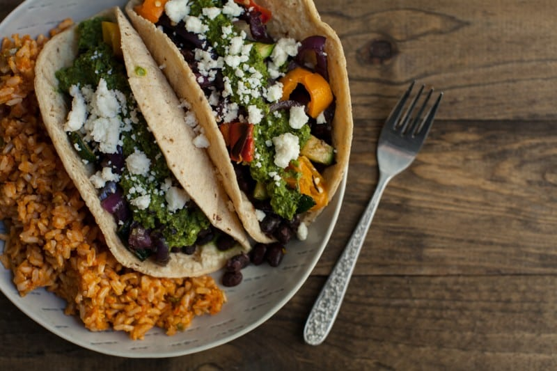 Taco Party- Black Bean and Grilled Veggie Tacos