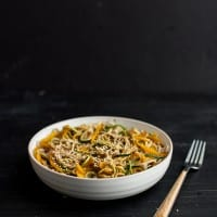Garlic Soba and Zucchini Noodles