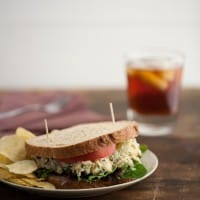 Chickpea Salad Sandwich with Blue Cheese and Grapes