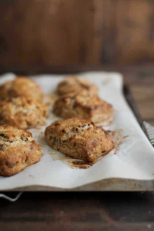 Cacao Nib and Oat Scones