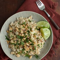 Thai Cauliflower with Pearl Couscous and Cilantro