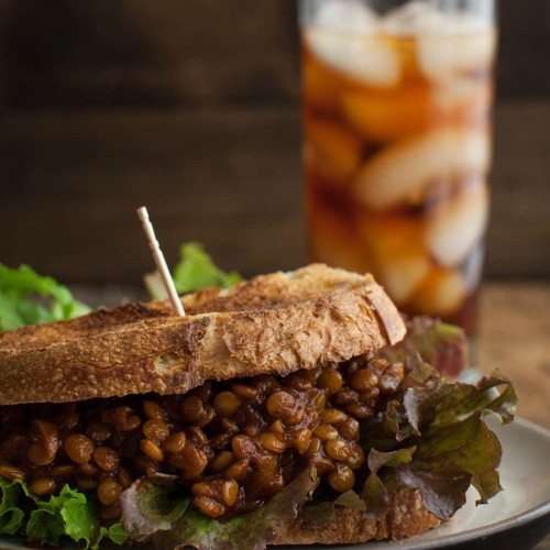 Spicy Vegan Lentil Sloppy Joes