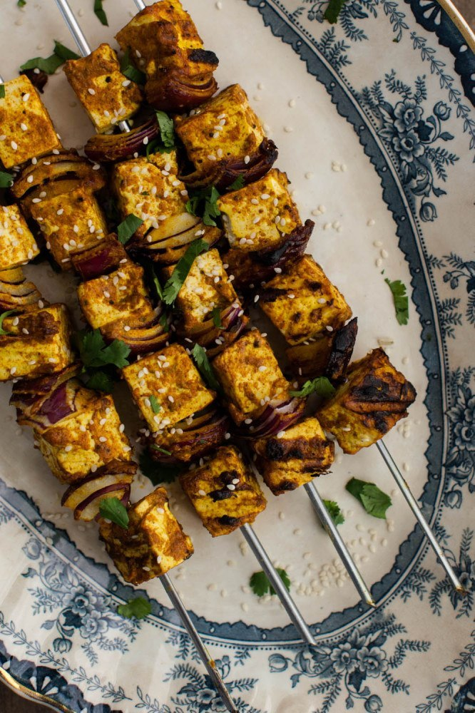 Grilled Vegan Coconut Curry  Tofu Skewers |Frontier Natural Co-op