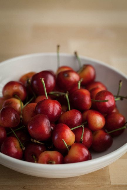 Ripe Rainier Cherries