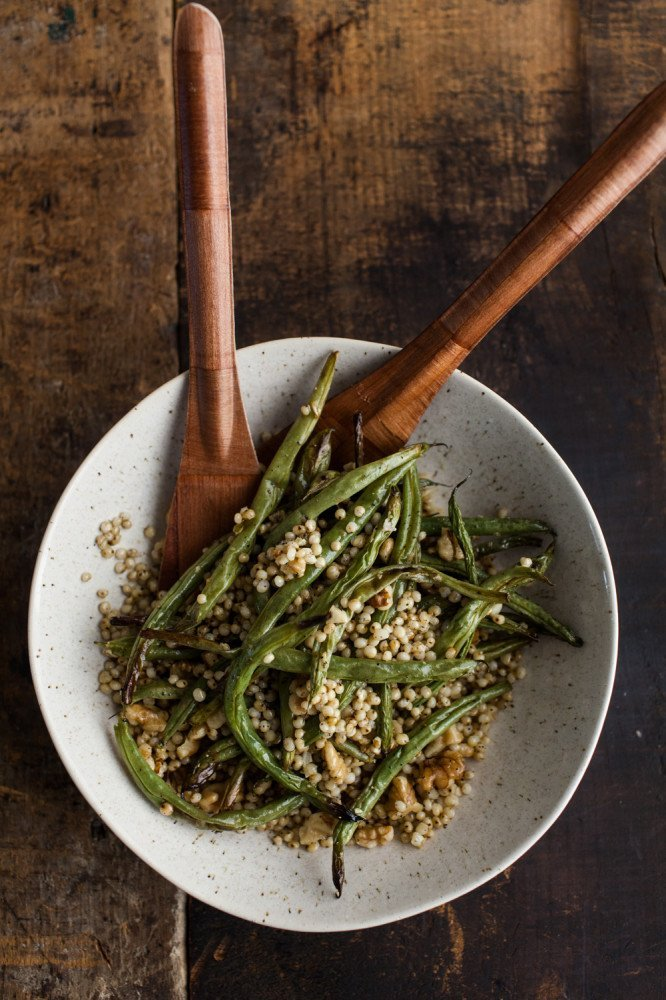 Garlic Green Bean with Sorghum and Walnuts (1 of 1)