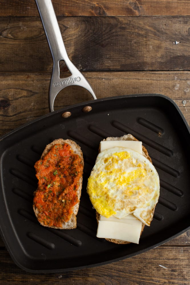 Harissa | Harissa + Egg Grilled Cheese Sandwich