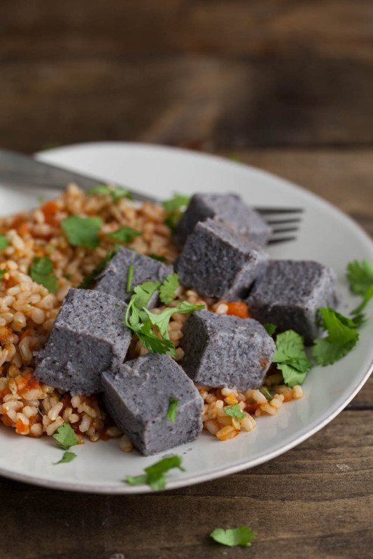 Black Bean Tofu and Rice