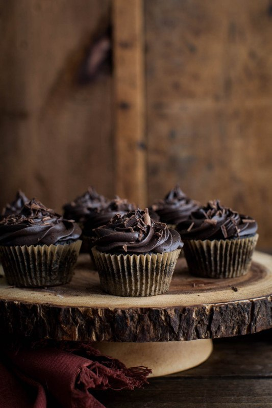Chocolate Beet Cupcakes with Chocolate Mascarpone Frosting | Naturally Ella