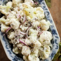 Cauliflower Salad with Lemon-Dill Yogurt Dressing