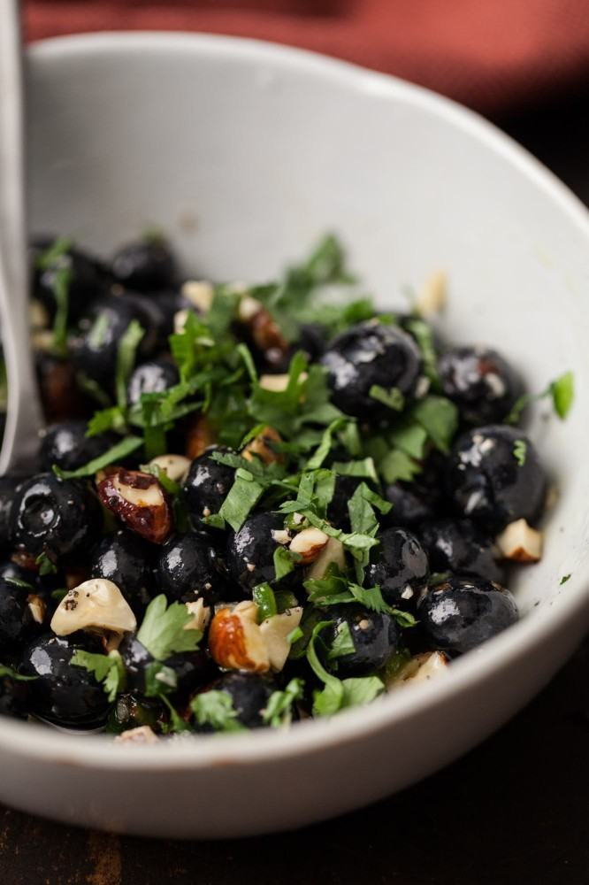 Blueberries and Herbs