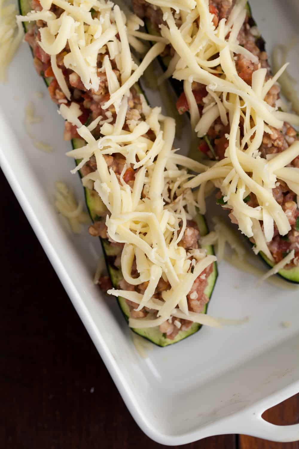 Buckwheat and Tomato Stuffed Zucchini