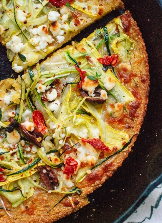 Socca Pizza with Summer Squash- Cookie and Kate