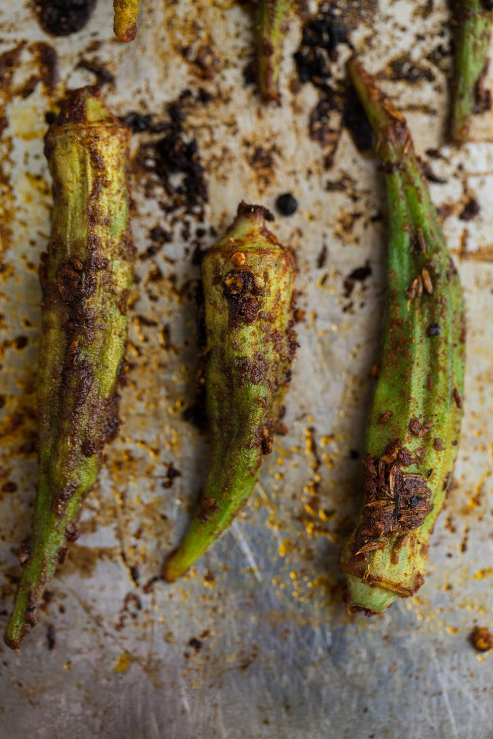 Blackened Okra | Afro-Vegan