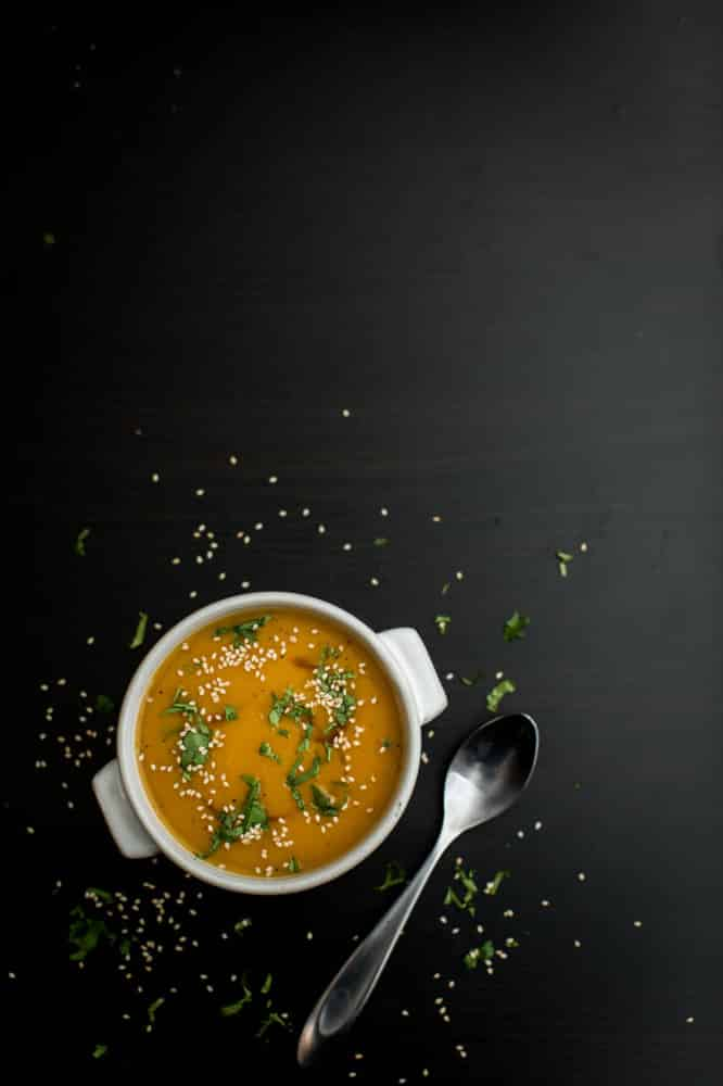 Butternut Squash Soup with Ginger | @naturallyella