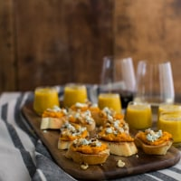Sweet Potato Crostini and Butternut Squash Soup