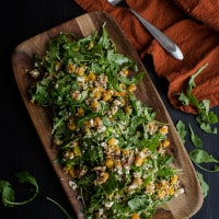Roasted Butternut Squash, Quinoa, and Arugula Salad