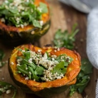 Curried Acorn Squash with Lemon-Arugula Salad