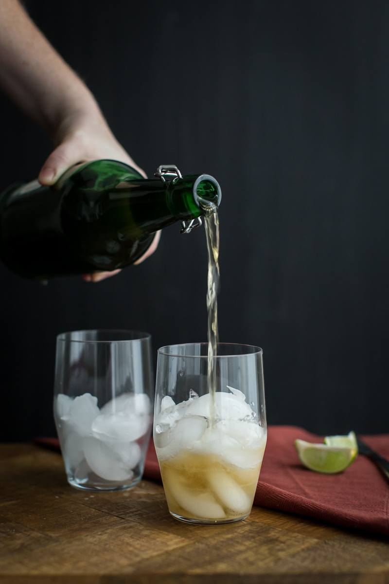 Ginger Lime Fizz with Ginger Beer | @naturallyella