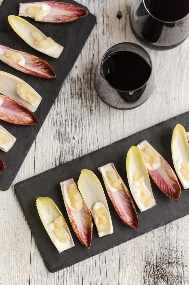 Ginger Pear and Goat Cheese Endives | @naturallyella