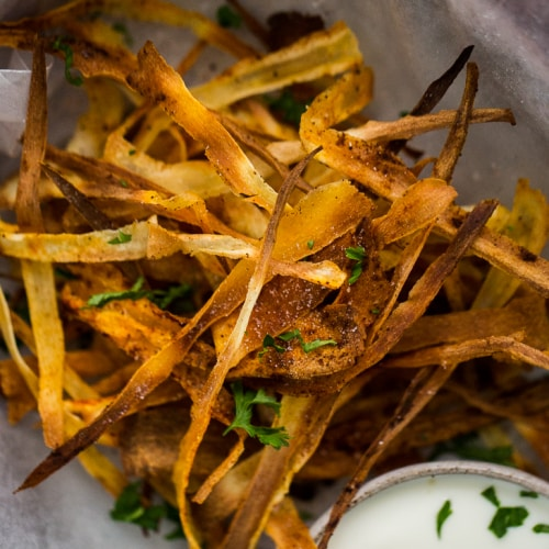Chipotle Parsnip Crisps- Yummy Supper Cookbook | Naturally Ella