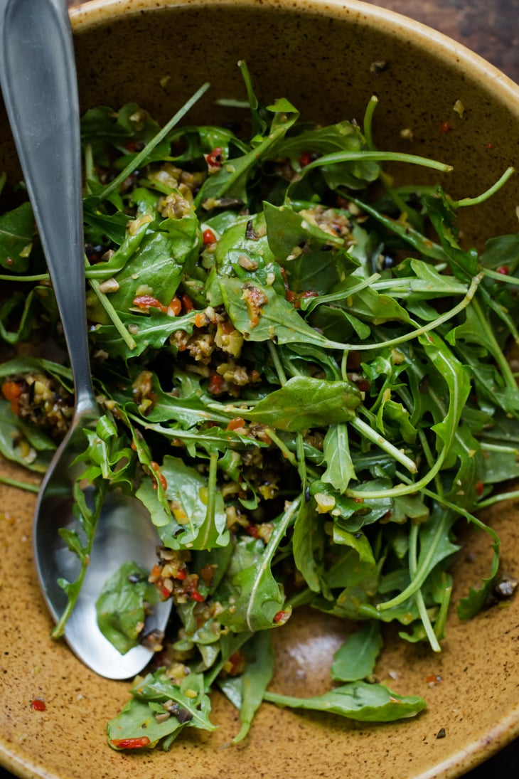 Arugula with Olive Tapenade | @naturallyella