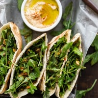 Olive Tapenade and Hummus Stuffed Pita