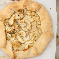 Parsnip and Thyme Galette | @naturally (from The Easy Vegetarian Kitchen)