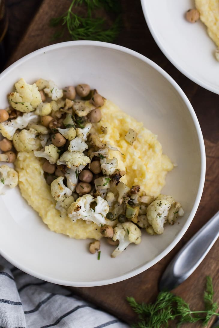 Roasted Fennel and Cauliflower with Chickpeas | @naturallyella