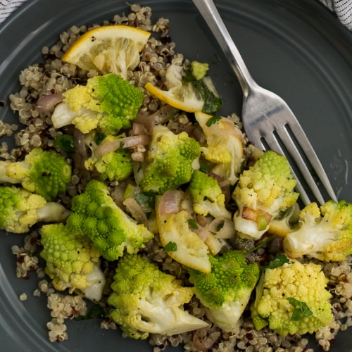 Roasted Romanesco with Meyer Lemon Salsa | Naturally Ella