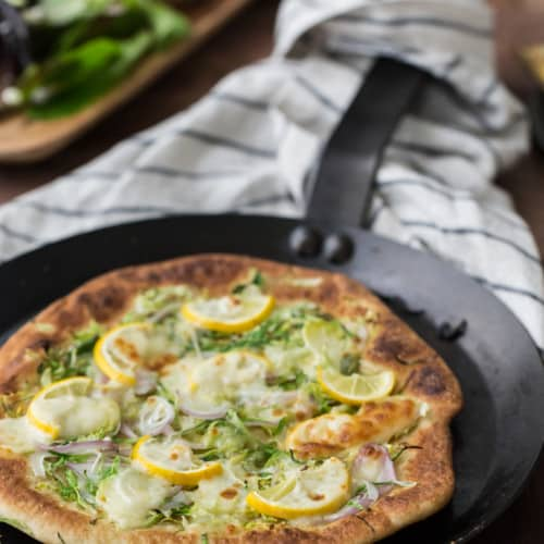 Brussels Sprout and Meyer Lemon Pizza |@naturallyella