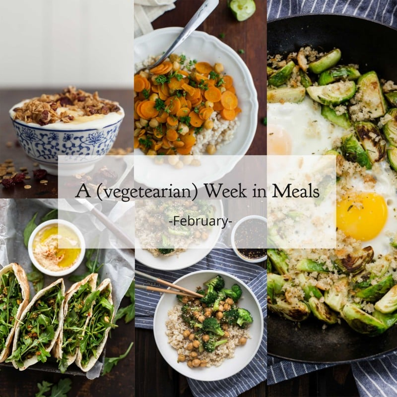 A week's worth of vegetarian meals for February | @naturallyella