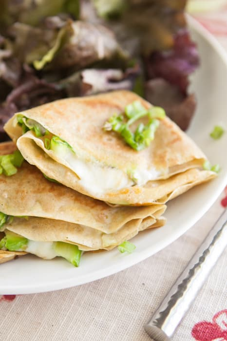 Asparagus Grilled Cheese Crepes | @naturallyella