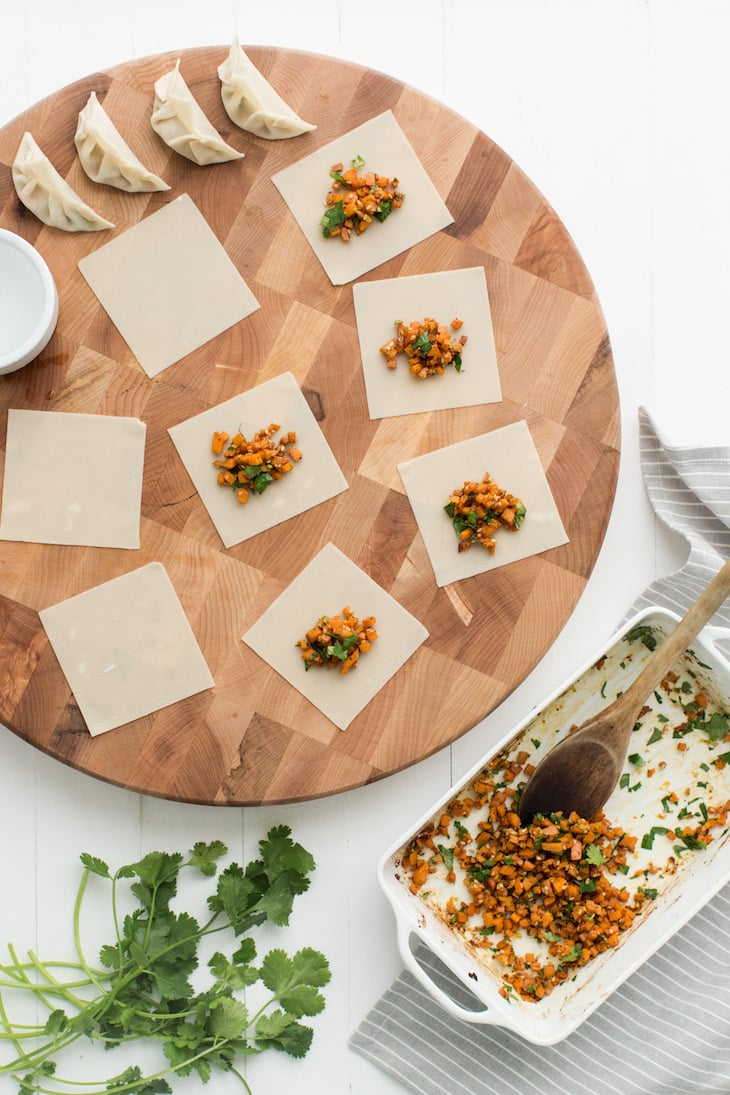 Sweet Potato Potstickers | @naturallyella