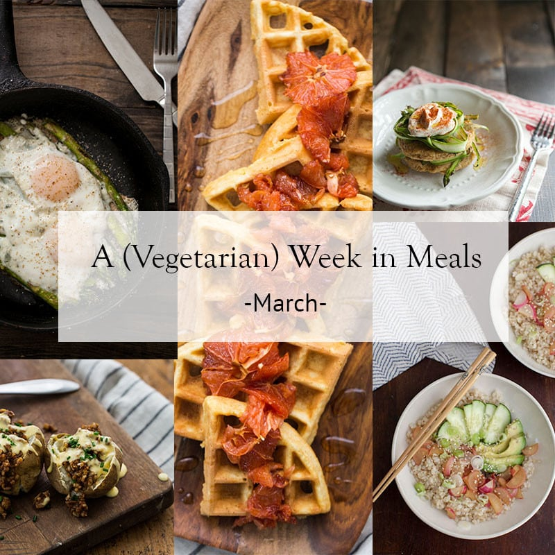 Vegetarian Week in Meals- March | @naturallyella