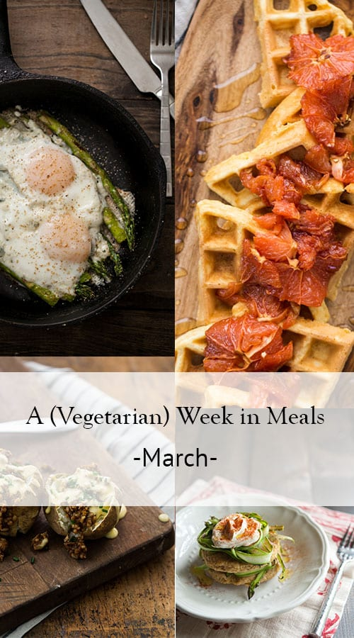 A Week in Vegetarian Meals- March | @naturallyella