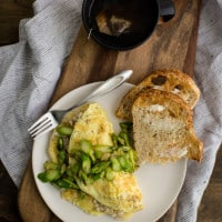 Asparagus Omelette with Barley