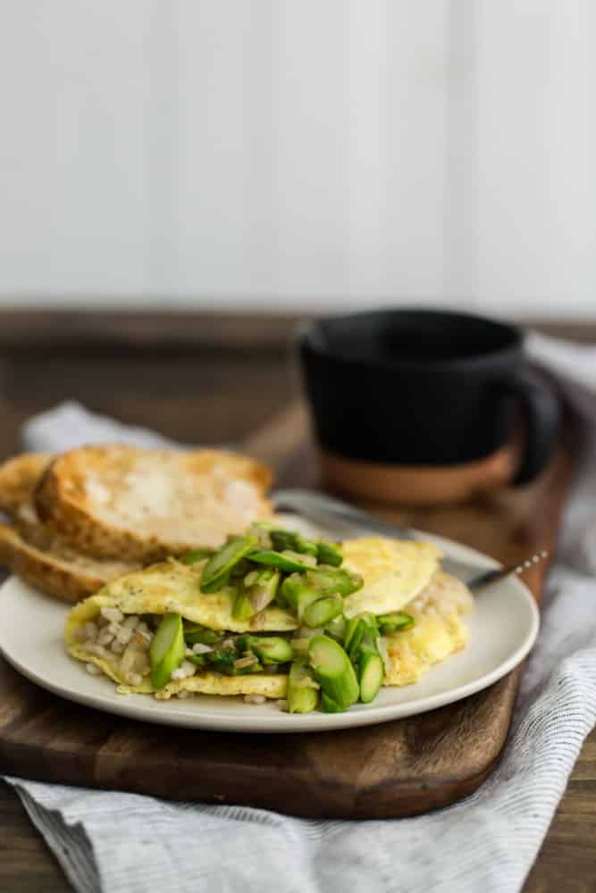 Barley and Asparagus Omelette | @naturallyella
