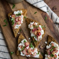 Buttered Radish and Ricotta Toast | @naturallyella
