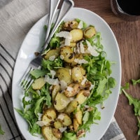Warm Potato Arugula Salad | @naturallyella