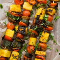 Curried Vegetable Polenta Kabobs